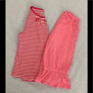Bundle of Two Girl's Long Sleeved Tops - Size 4T